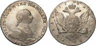 1 рубль 1762 СПБ-НК. ПЕТР III. AU. Биткин # 11