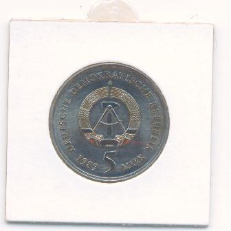 ГДР 5 марок 1989 Замок UNC