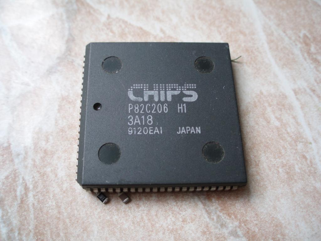 CHIPS P82C206-H1 Чипсет от 286 материнской платы
