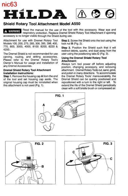 Чехол защитный экран насадка Dremel безопасность ваших глаз и рук