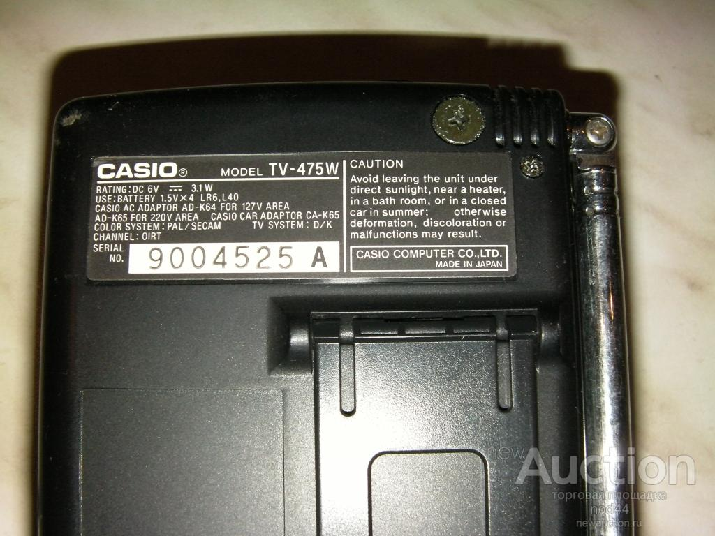 Минителевизор casio TV475 для коллекционеров старины