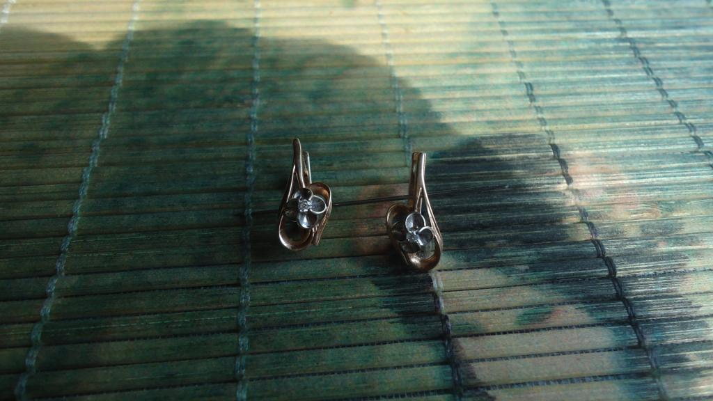 Серьги с бриллиантами, 585 пр