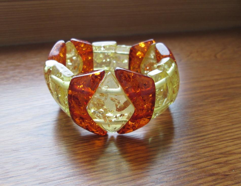 Браслет искусственный янтарь