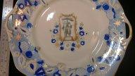 ВСХВ Дулево 1954 г, декоративная тарелка ,редкая.