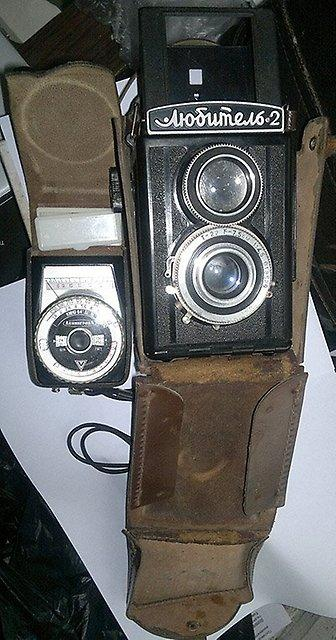 Фотоаппарат Любитель 2. Раритет. СССР с дополнительным прибором