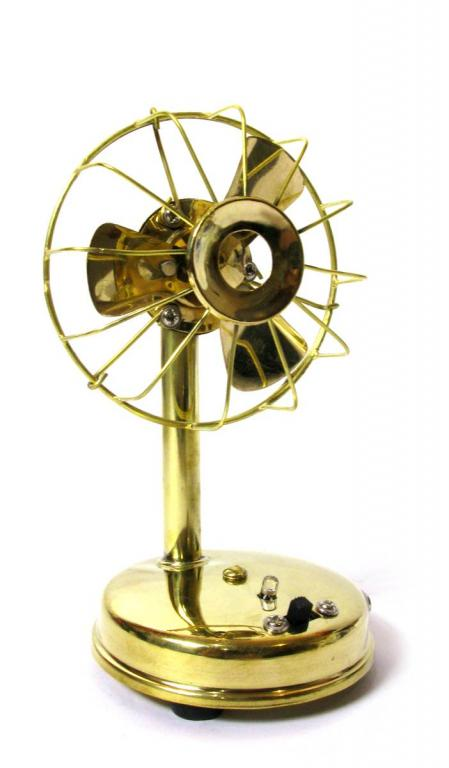 Вентилятор ретро бронзовый на батарейках, Лучшая цена!