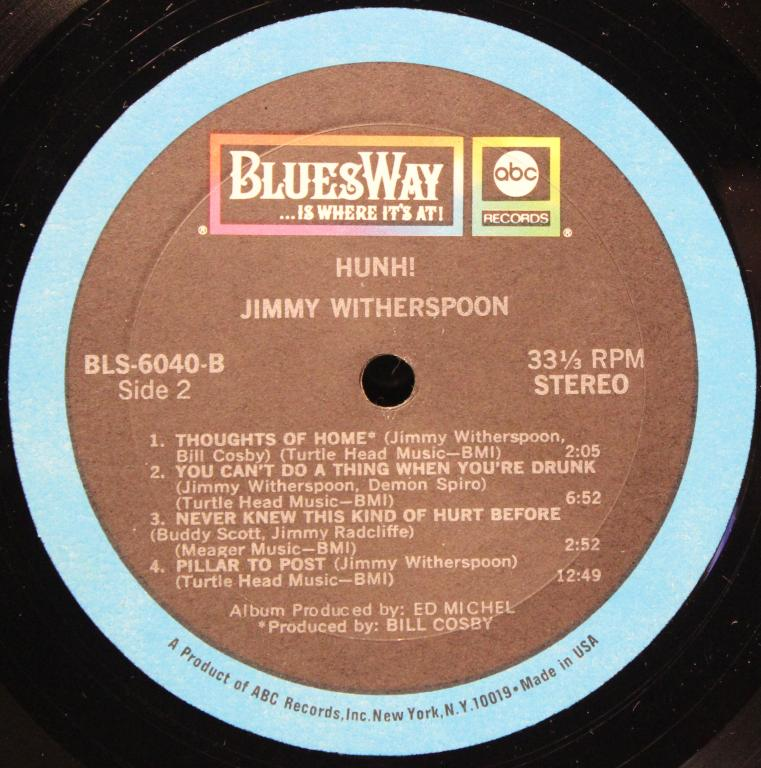 """LP-Jimmy Witherspoon-1970г.""""Hunh!""""-orig.-usa"""