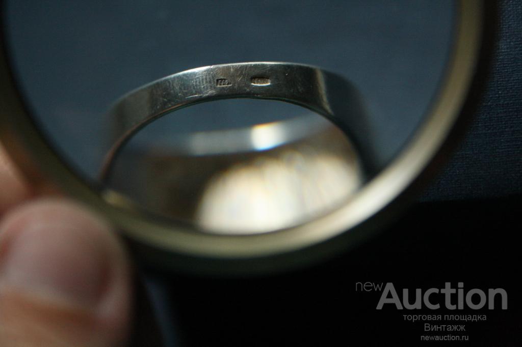 Кольцо Печатка серебро проба 925