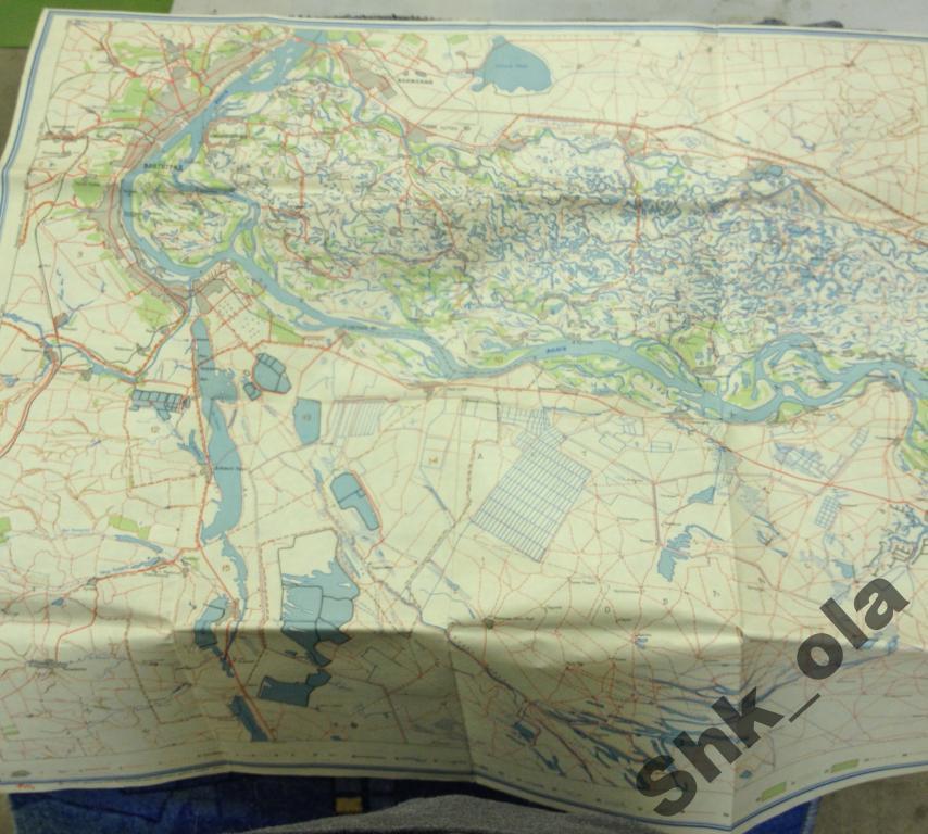 Волго-ахтубинская пойма и сарпинские озера Карта