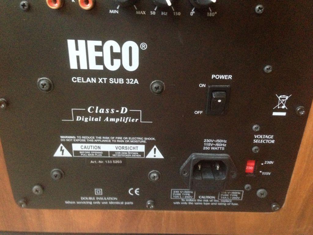 Сабвуфер Heco Celan XT Sub 32A walnut