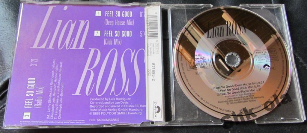 Lian Ross / Feel So Good (Germany) 1989 house