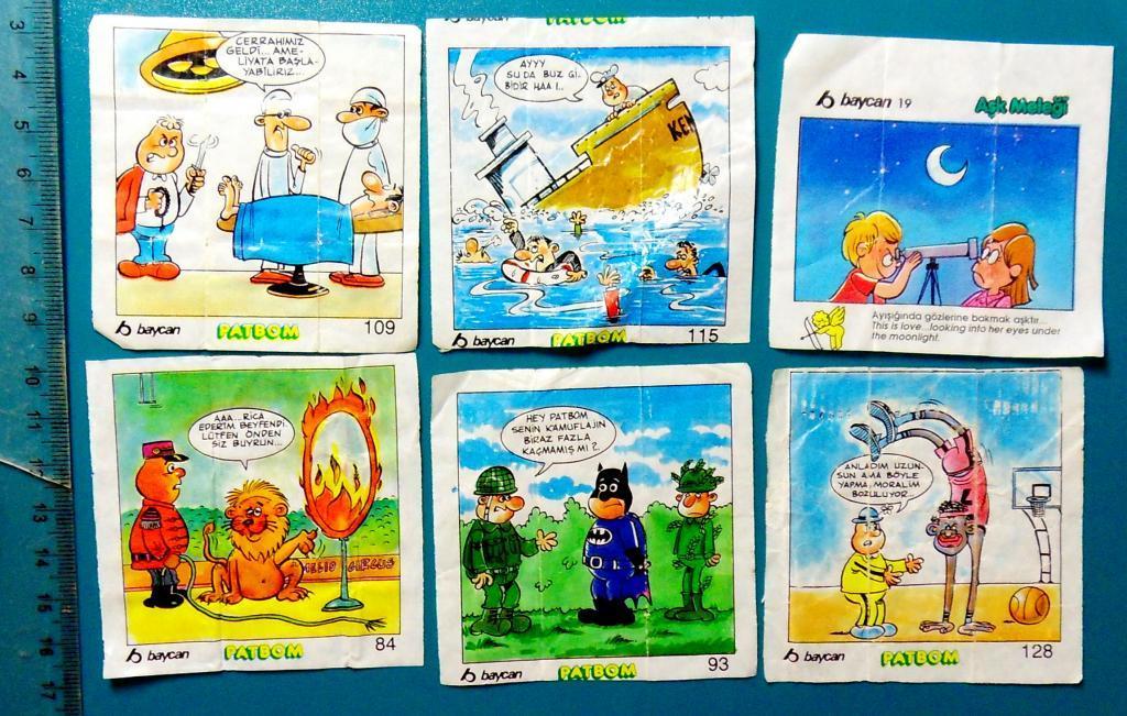 ВКЛАДЫШИ 8 шт cS (16) комиксы