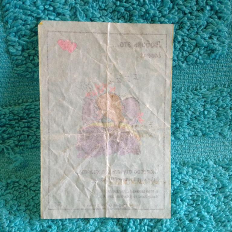 карточка вкладыш Love is серия 6 номер 34