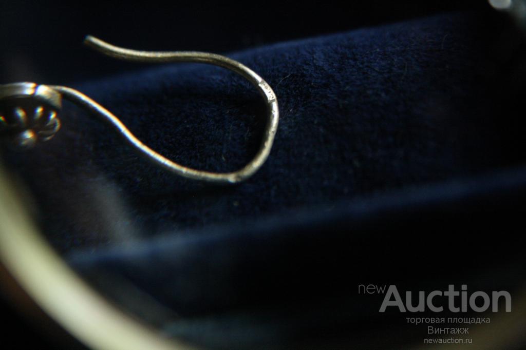 Серьги скань Листочки