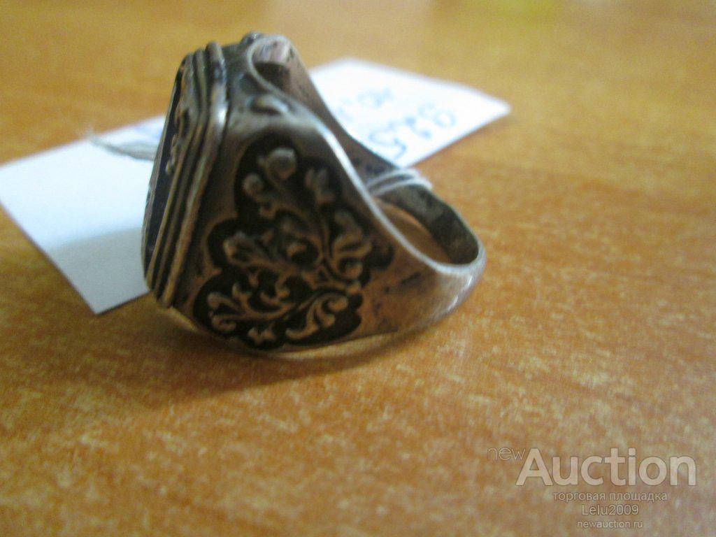 Кольцо Печатка Серебро 925 проба № 18