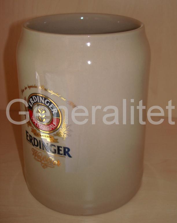 Кружка немецкая пивная Erdinger Германия оригинал