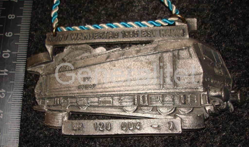 Плакетка тяж мет электровоз Германия ГДР ФРГ? 1985