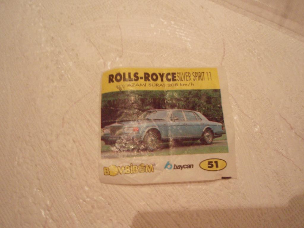 м1г Вкладыш  BomBibom № 51 ROLLS-ROYCE Silver Spirit 11  Роллс-Ройс