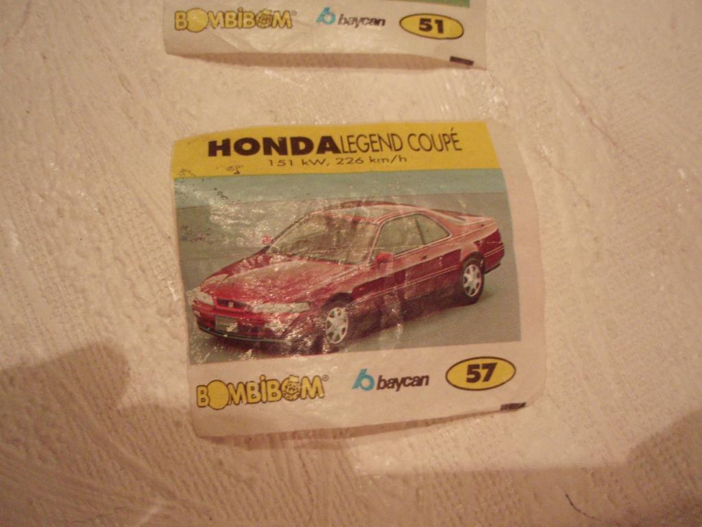 м1г  Вкладыш  BomBibom №57 Honda Legend Coupe Хонда