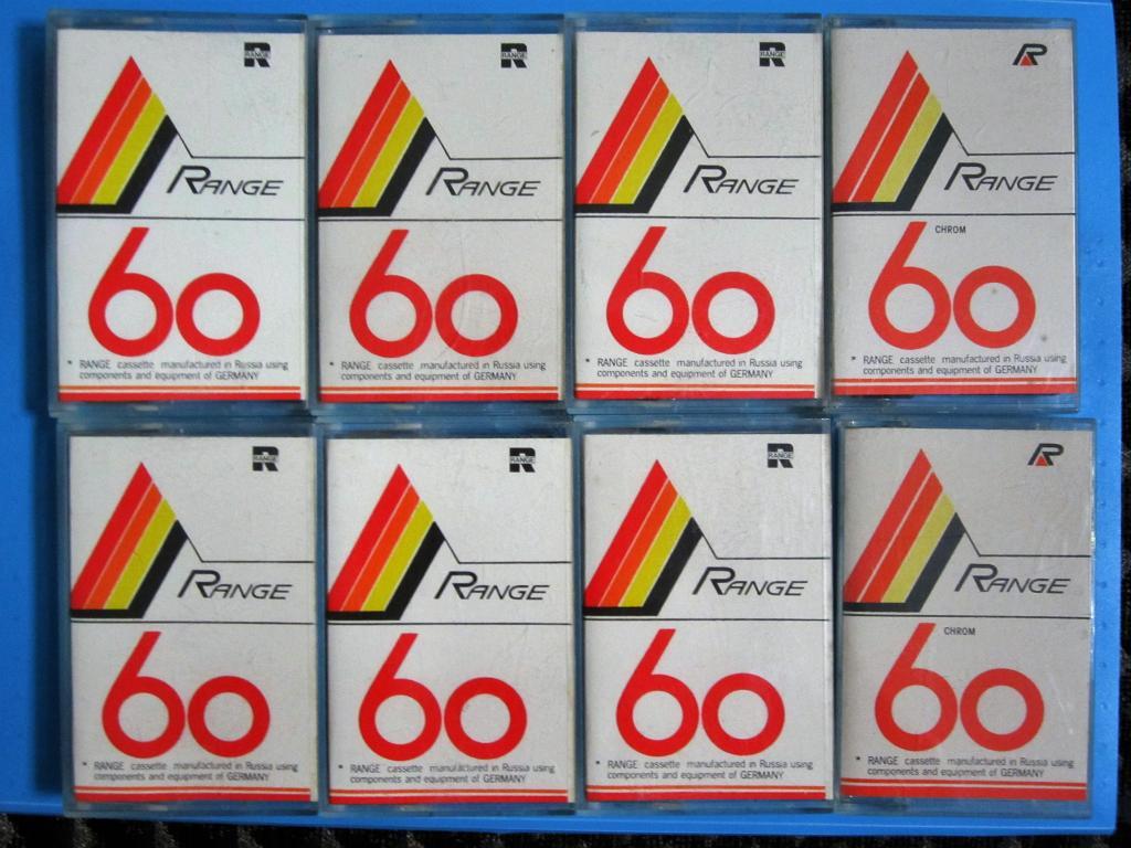 Аудиокассета кассета range 60 ЛОТ 8 ШТ ЦЕНА ЗА ВСЕ !!!