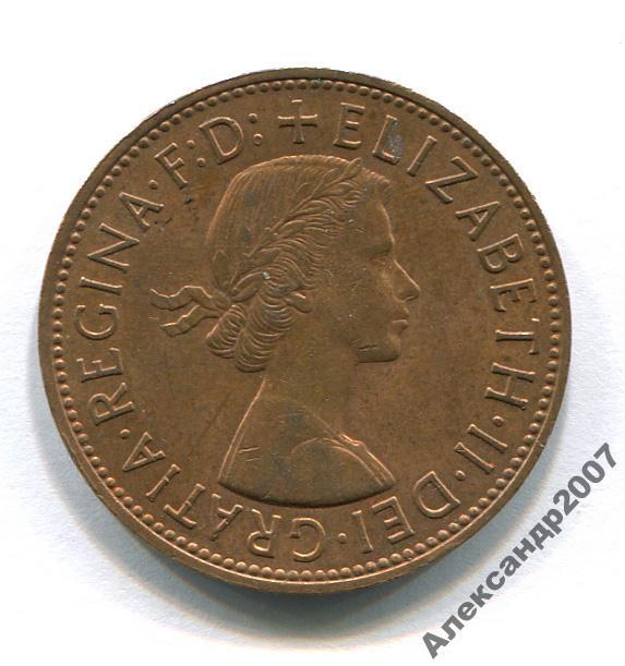 Великобритания 1 пенни 1964 Елизавета