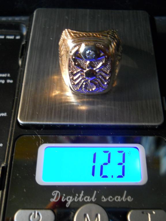 Мужской Перстень-Оберег. Скорпион. С Номерным № 17 Бриллиантом. Золото 583 пробы. 12,3 грамма. 21-22