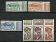 Камерун 1946 г. Ивер 276-294 полная б/зуб. серия **, поля