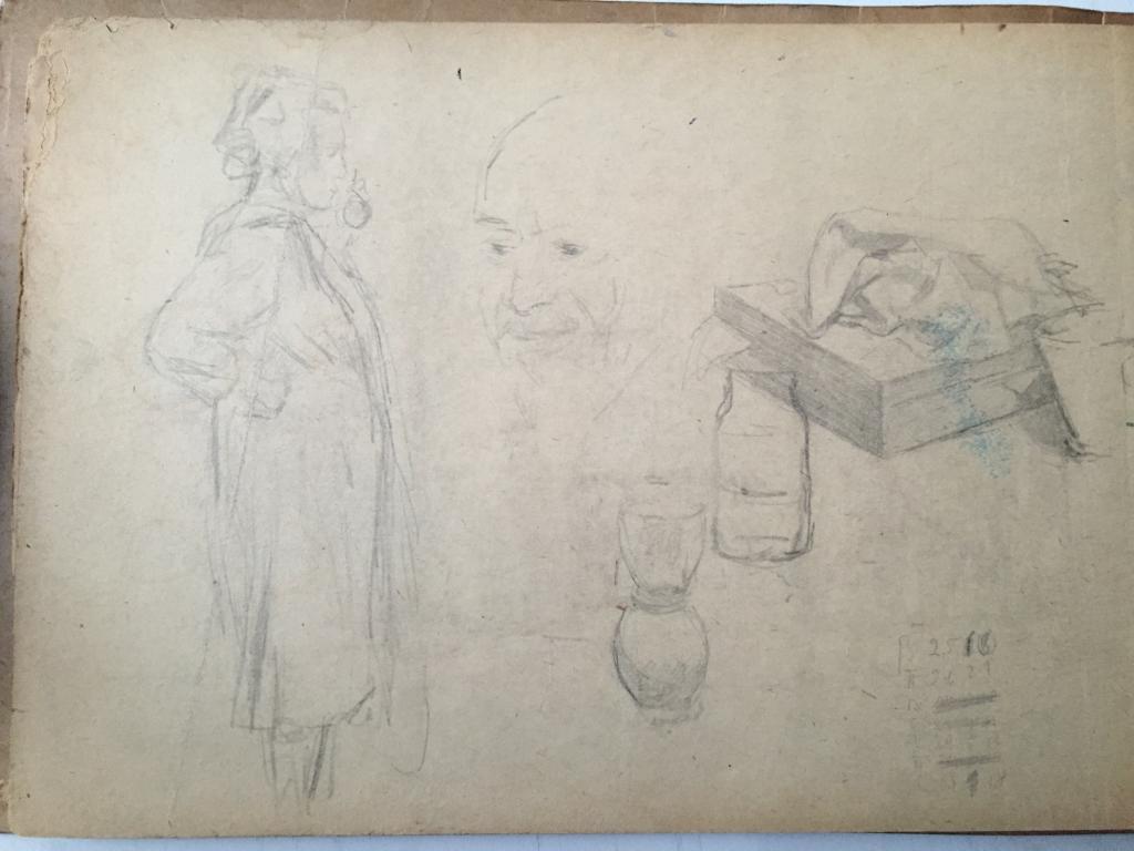 Родионов М.С. (1885-1956)   Женщина, домашняя утварь и мужское лицо