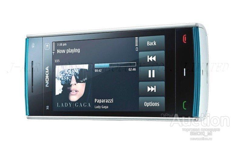 Nokia x6. 8 Г/16 Г WIFI 3 Г GPS.  ОРИГИНАЛ.