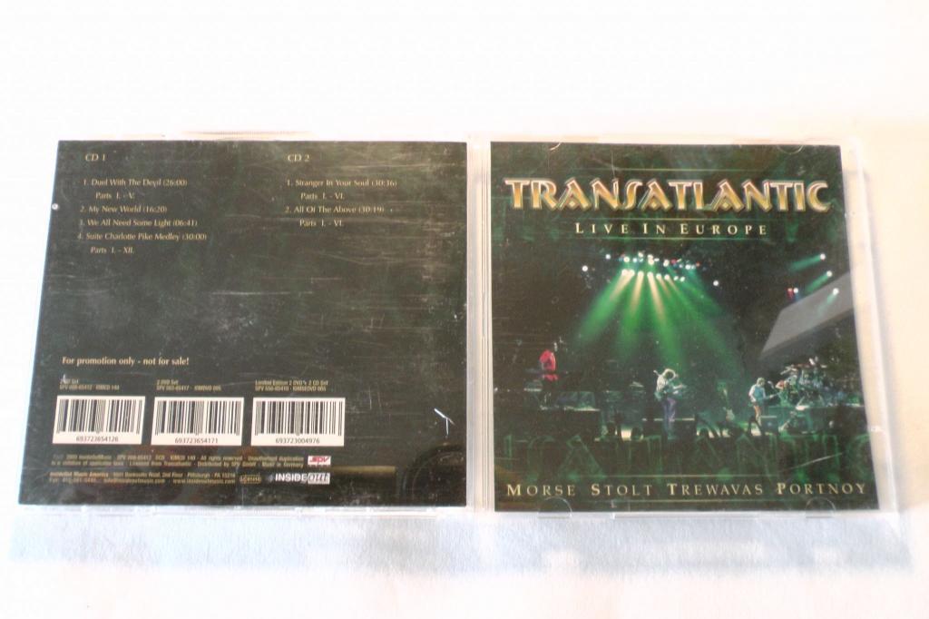 TRANSATLANTIC LIVE IN EUROPE 2 CD  NOT FOR SALE