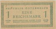 1 рм (сов.зона оккупации Австрии) 1945 года,. P#113, цифры номинала на одном уровне ,aUNC