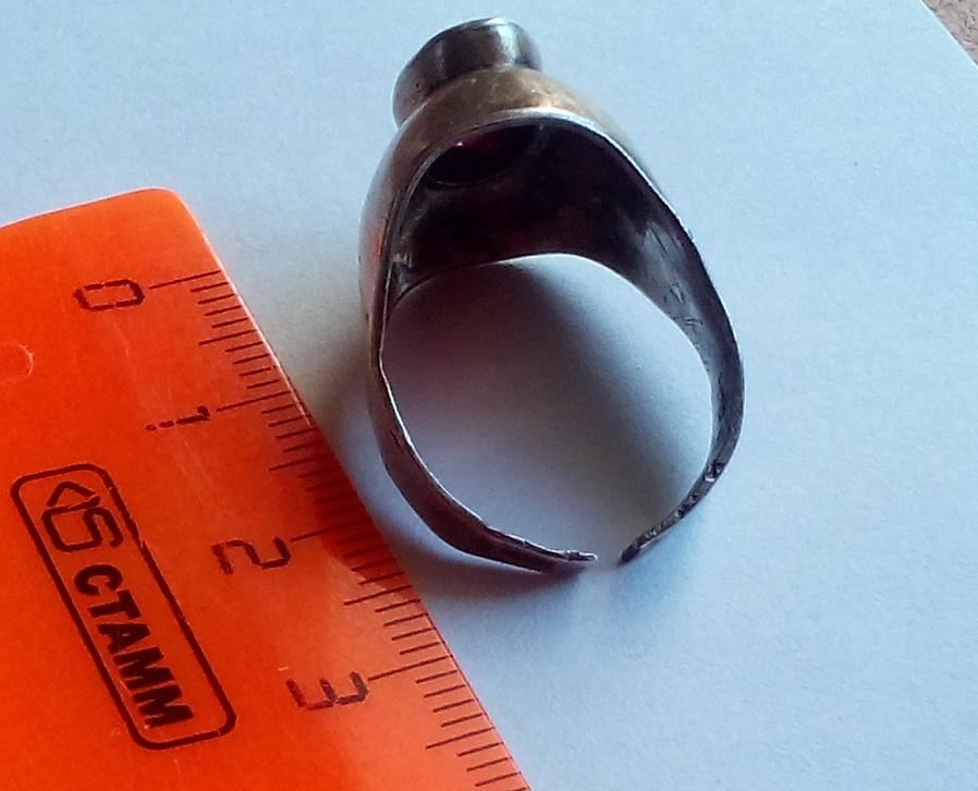 Кольцо, серебро, из СССР, корунд, позолота