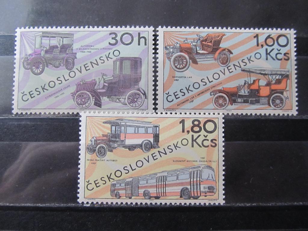 Чехословакия 1969 Автомобили ретро серия