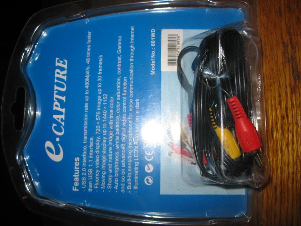 Прибор для оцифровки видео с  видеокассет в цифровой формат , E-capture 601 WD !!!
