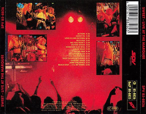 Sweet Live At The Marquee 1989г.   CD