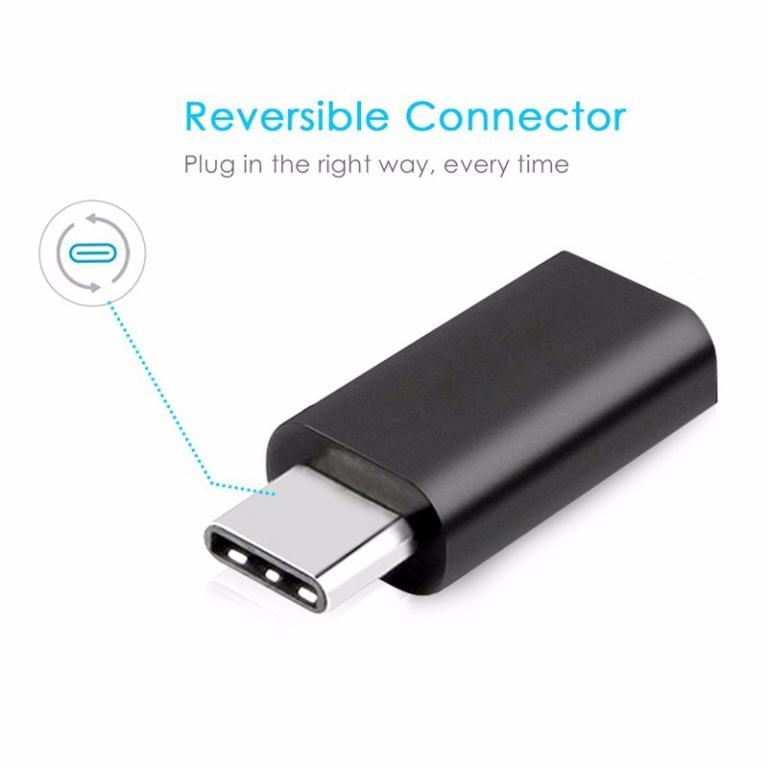 Micro USB 3.1 - USB Type-C Переходник (Зарядка/Передача Данных).