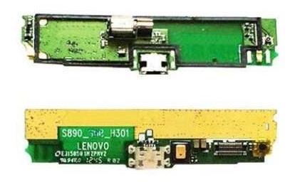 Плата нижняя с системным разъемом,вибромотором и микрофоном Lenovo S890