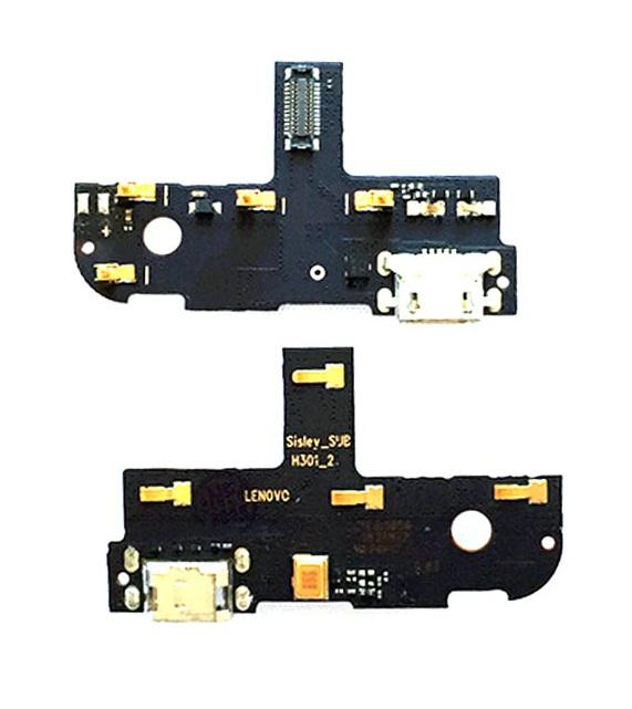 Плата нижняя с системным разъемом и микрофоном Lenovo S90