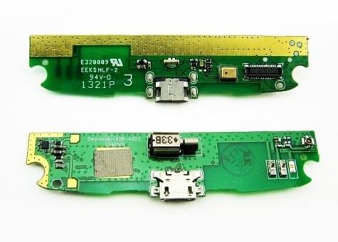 Плата нижняя с системным разъемом,вибромотором и микрофоном Lenovo S820