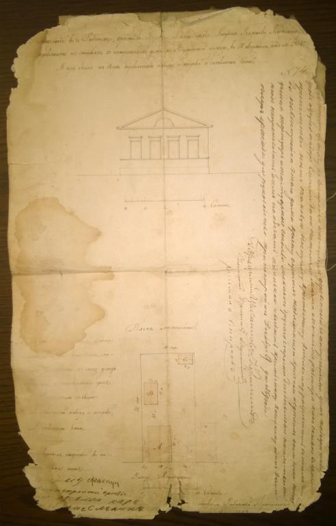 План местности. Рыбинск. 09 декабря 1859 год