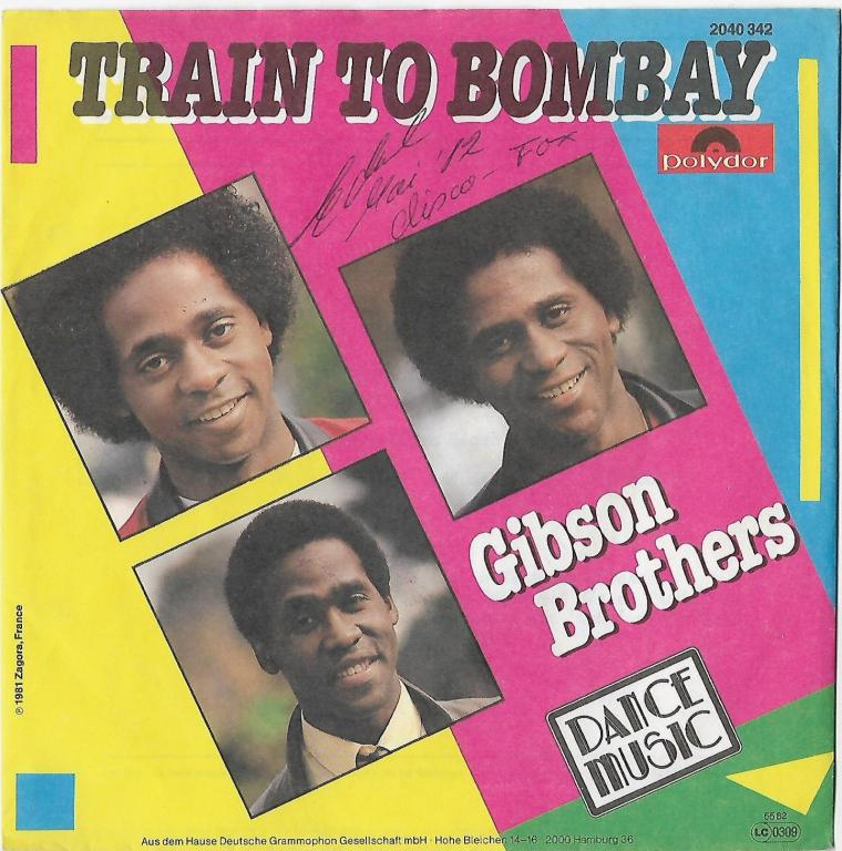 "Gibson Brothers ""Train To Bombay"" 1982 Single  Promo!"