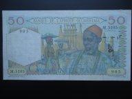 банкнота Французской Западной Африки 50 франков 1951  РЕДКАЯ  RARE