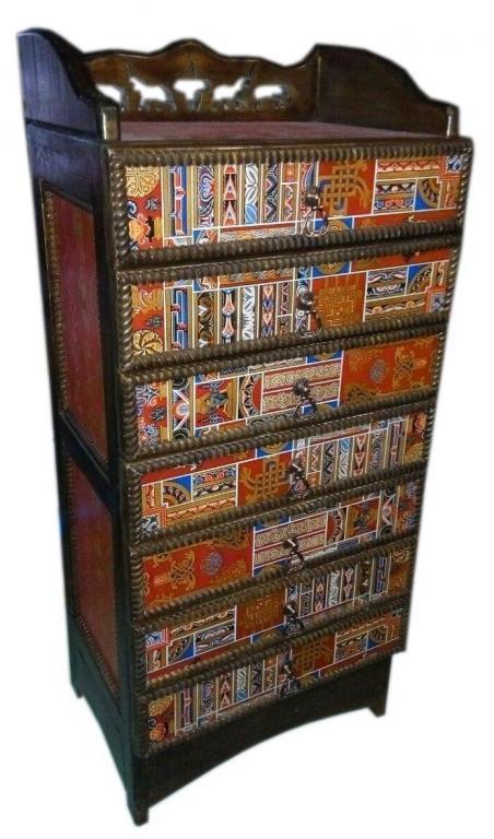 Комод с тибетским орнаментом, Лучшая цена!