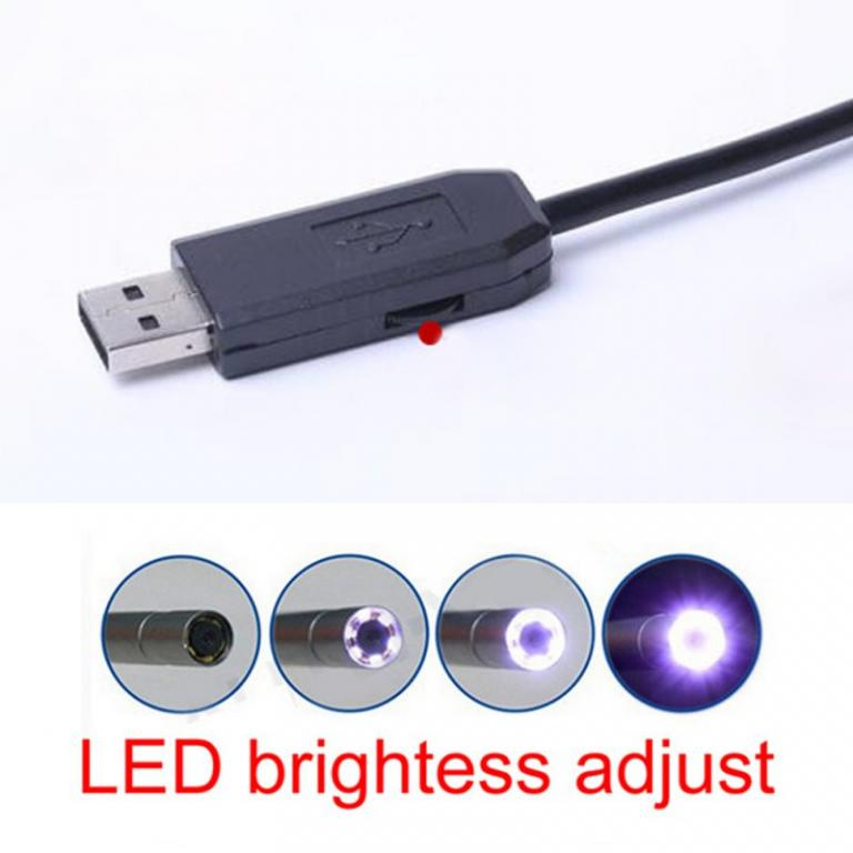 Водонепроницаемый USB Эндоскоп 2 метра с Подсветкой/ПК/Android.