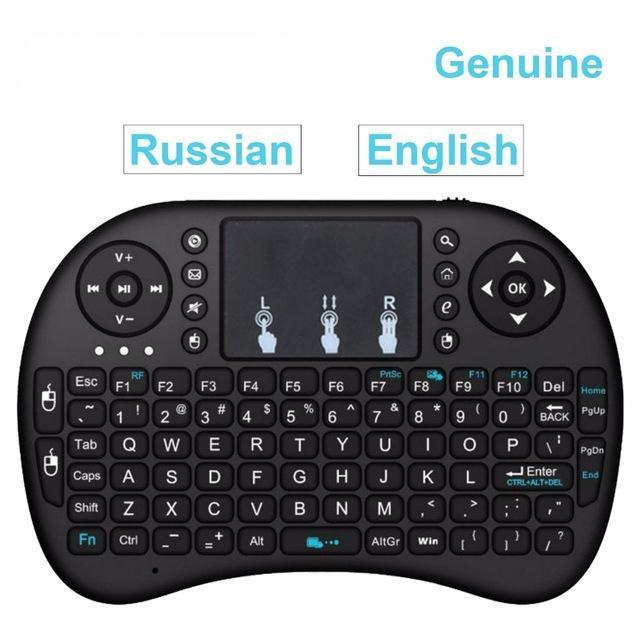I8 Мультимедийная 2,4 ГГц Мини Клавиатура - Мышь *Русская*.