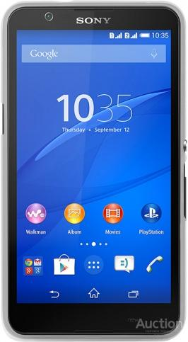 Клип-кейс Puro Ultraslim для Sony Xperia E4 (прозрачный белый)