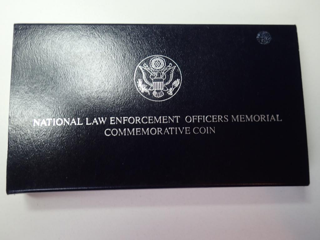 США 1 доллар 1997 ПРУФ  СЕРЕБРО. Мемориал офицеров , Дост до 1,5 месяца. ОРИГИНАЛ /1281