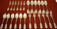 Комплект столового серебра серебро 84 24 предмета 1430 грамм В ИДЕАЛЬНОМ СОСТОЯНИИ