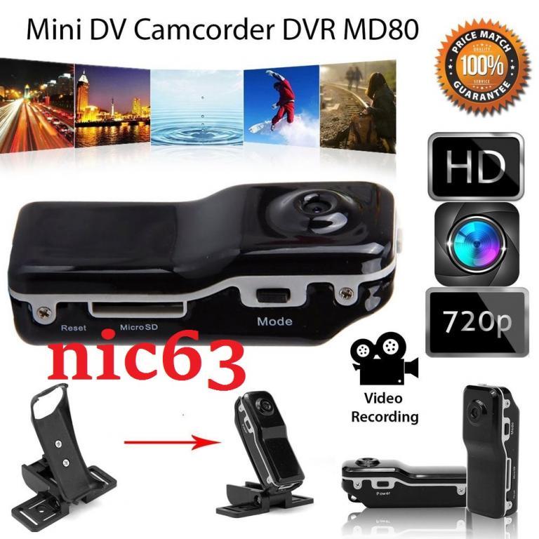 MD80 ВИДЕОРЕГИСТРАТОР ЦВЕТНОЙ mini DV камера цветная виде аудио запись включение на звук + чехол