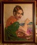 Вышивка Картина по мотивам - Тропинин В.А. Золотошвейка (Вышивальщица)